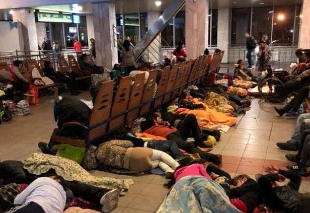 ромы на вокзале Киева