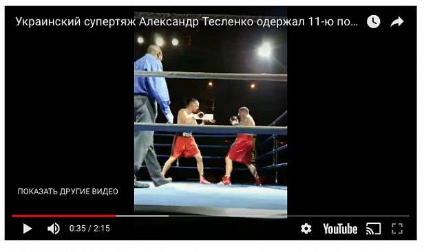 Украинский боксер отправил в нокаут американца (видео)