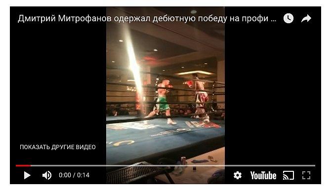 Украинский боксер одержал уверенную дебютную победу напрофи-ринге