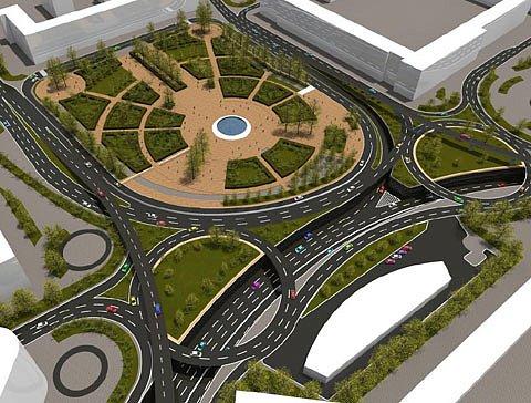 Киевсоюзшляхпроект разработает транспортную развязку на Ленинградской площади