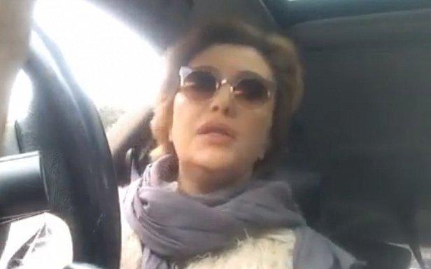 Украинская телезвезда устроила патрульным скандал из-за марафона (видео)