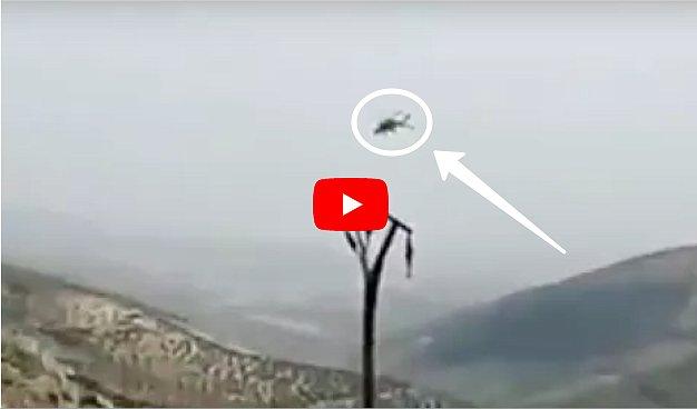 Боевики сбили вертолет: появилось видео момента