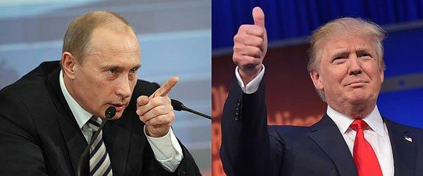 На фото Владимир Путин и Дональд Трамп