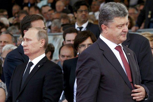 фото - Порошенко и Путин