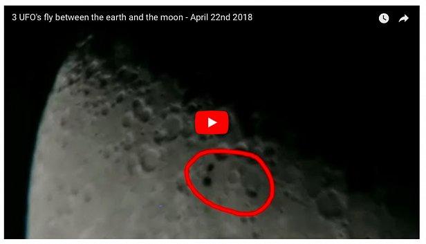 Рядом с Землей пролетел отряд НЛО: первое видео