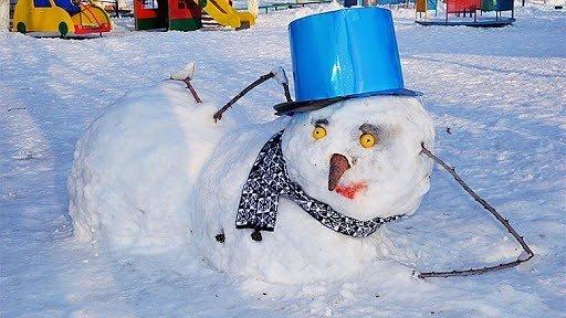 Фото — Снеговик