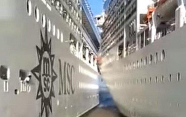 В Аргентине два лайнера столкнулись в порту