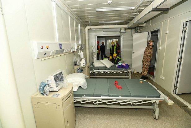фото - больница Хошэньшань в Ухане для больных коронавирусом
