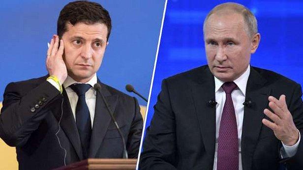 Фото - Зеленский и Путин