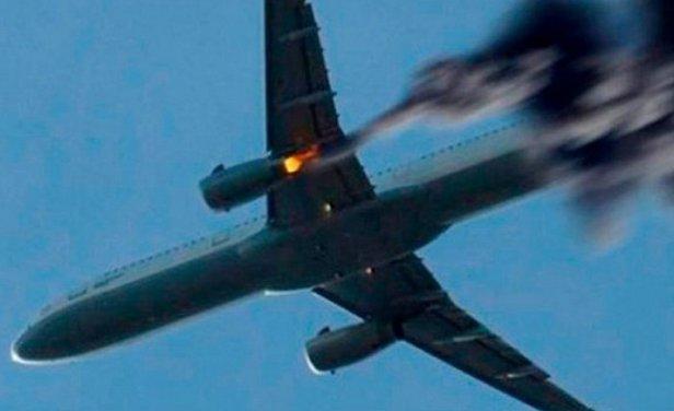 Свидетели видели, как падал пылающий пассажирский самолет под Москвой