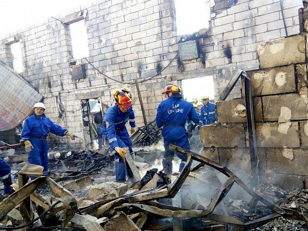 Частный дом престарелых сгорел полностью