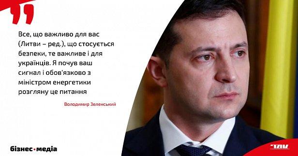 Зеленський у Вільнюсі пообіцяв розглянути можливість відмови від імпорту електроенергії з Росії