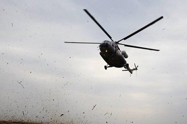 фото - упал вертолет