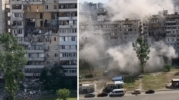 фото - взрыв газа на Григоренко (Позняки)