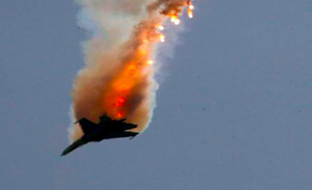 Разбился украинский истребитель Су-27