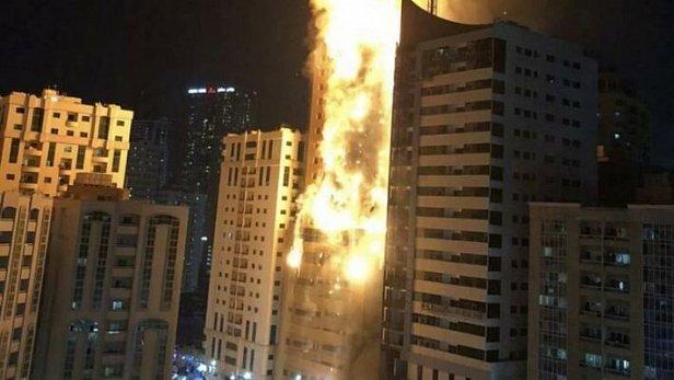 Фото — Пожар в ОАЭ