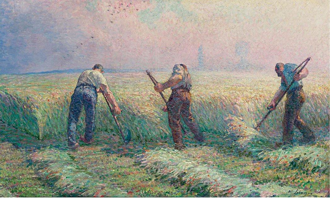 Анри Лебаск, «Косари на окраине Лани», 1900