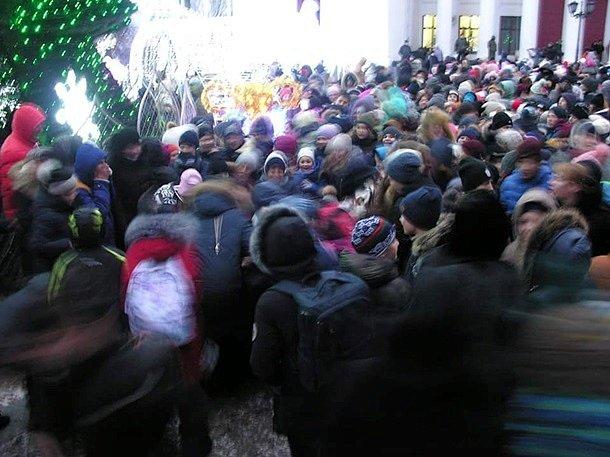 Фото: Давка в Одессе