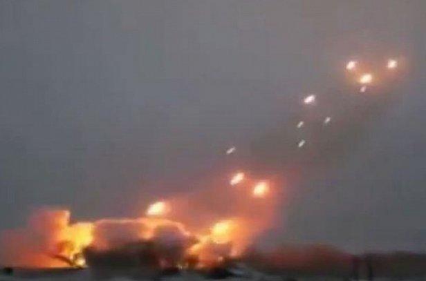Отражение ракетной атаки попало на видео