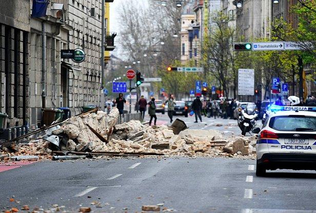 фото - землятресение в Хорватии