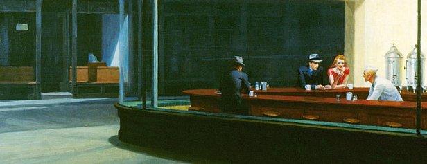 Эдвард Хоппер, «Полуночники», 1942