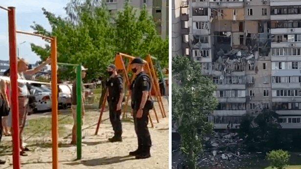 фото - взрыв на Позняках