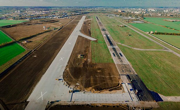 В аэропорту Одесса почти завершили строительство рулежной дорожки