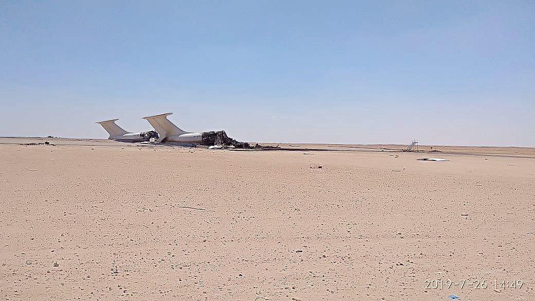 Знищені Іл-76 ТД в Лівії. Фото надане джерелами Бізнес.медіа
