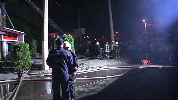 Фото - место пожара в отеле