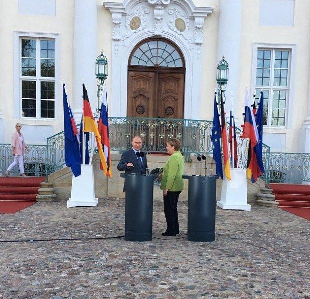 Путин и Меркель на встрече