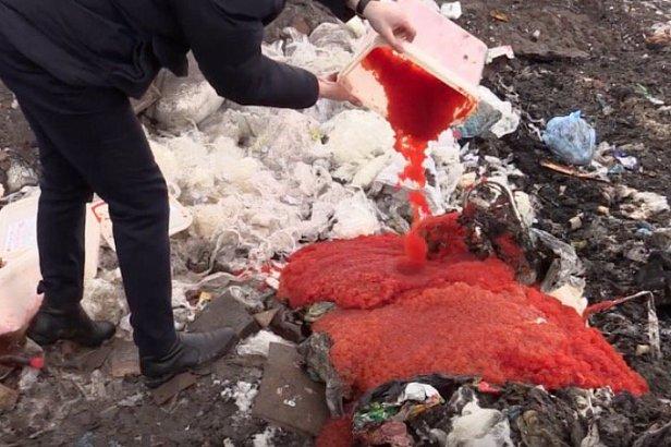 В «ЛНР» уничтожили 85 кг икры (видео)