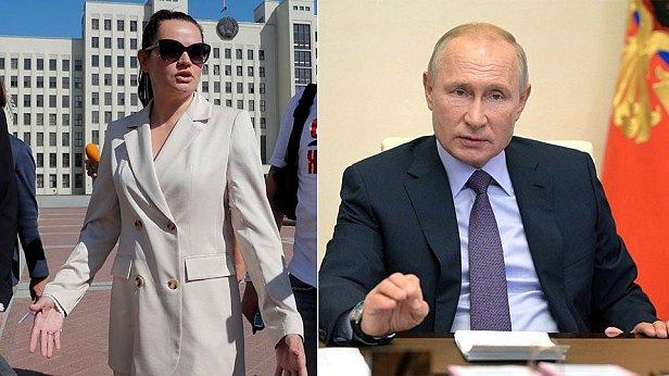 фото - Тихановская и Путин