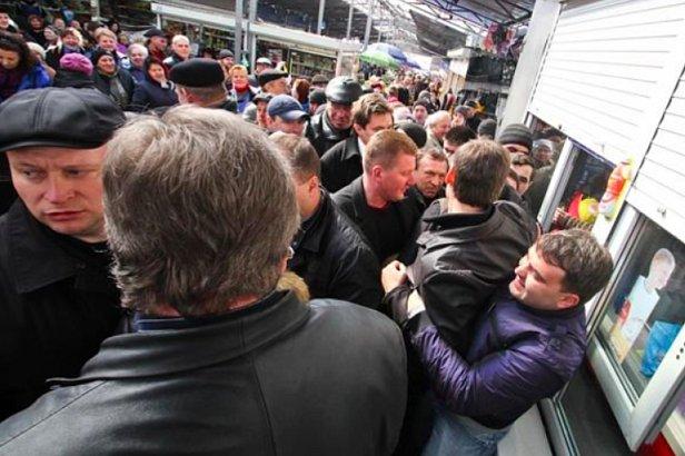 фото - штурм рынка в Каменском