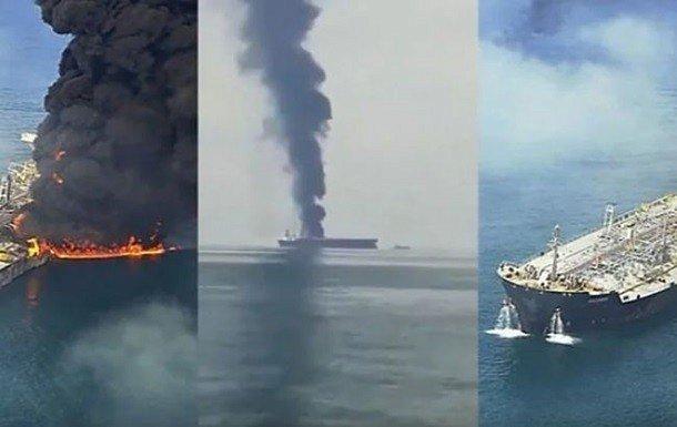 Фото — Пожар на нефтяном танкере