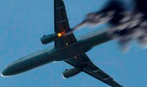 фото - загорелся самолет