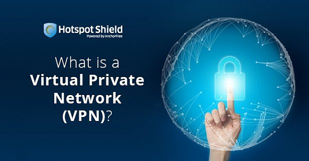На фото слайд с объяснением принципа работы VPN
