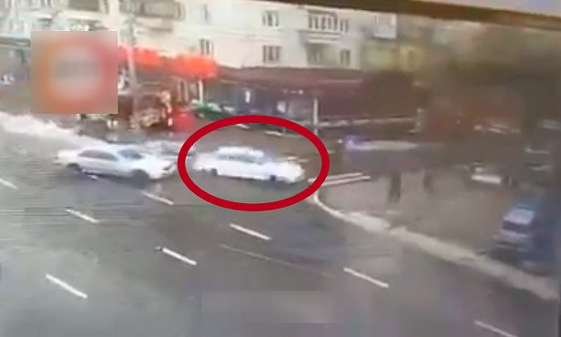 фото наезда полиции на пешехода
