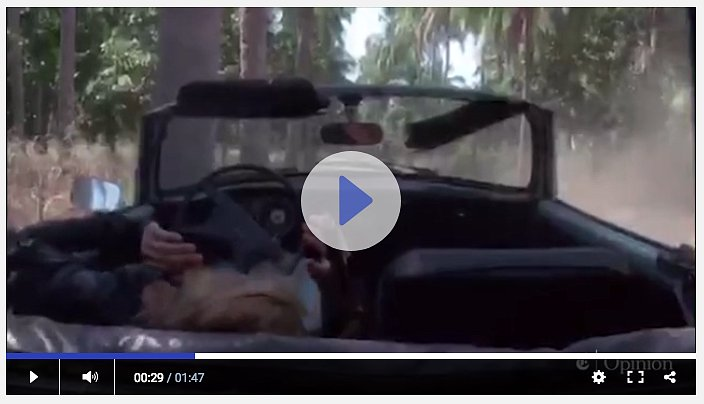 Появилось видео момента ДТП с Умой Турман
