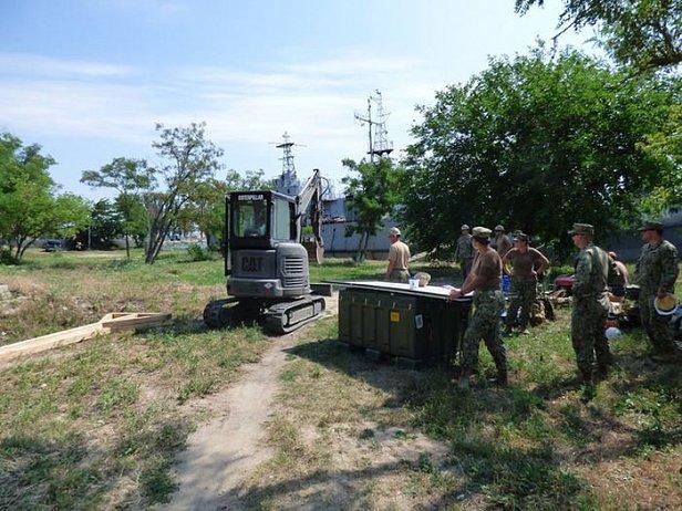 Появились первые фото, как американцы строят базу ВМС в Очакове