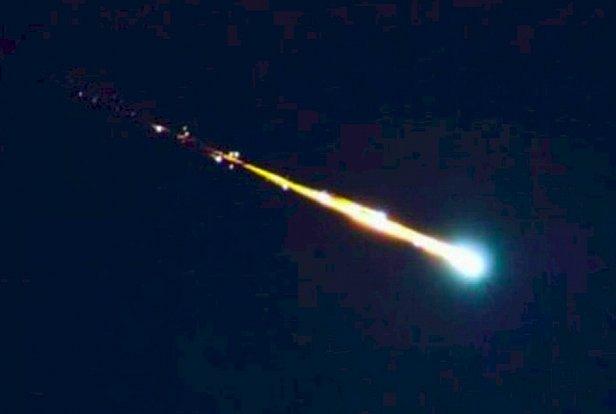 фото - видео падения астероида на Землю
