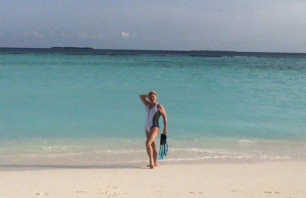 Гонтарева на Мальдивах
