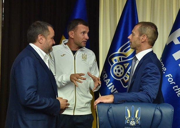 Фото - Павелко, Шевченко и Чеферин
