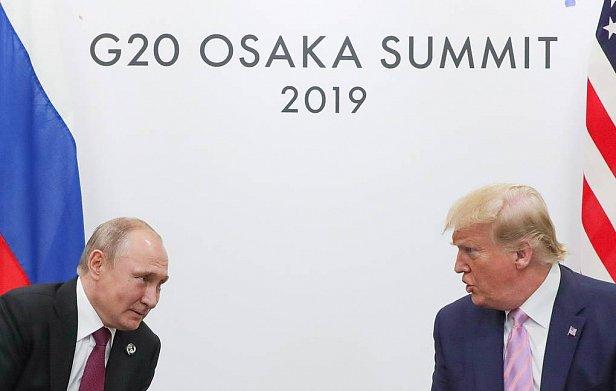 Фото - Владимир Путин и Дональд Трамп