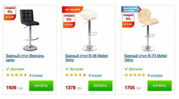 Качественные барные стулья для любых заведений в интернет-магазине Маркет Мебели