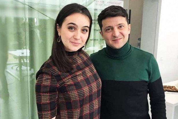 Фото — Юлия Мендель и Владимир Зеленский