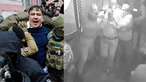 фото - Саакашвили на границе