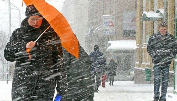 Фото — Снегопад