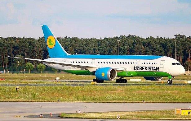 Фото Самолёт узбекистанской авиакомпании