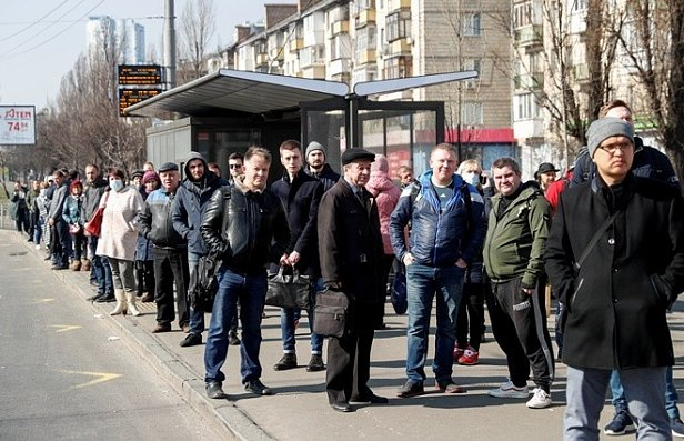Фото — Транспортный коллапс в Киеве