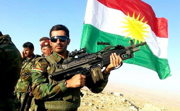 На фото вооруженные силы иракского Курдистана